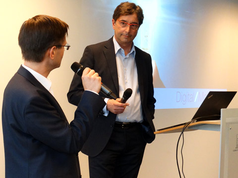 Adapt your processes, get your employees on board: McKinsey's Prof. Dr. Niko Mohr (r.) talked about the fundamental transition that digitization entails.